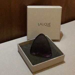 Lalique Grand Nacre Violet Butterfly